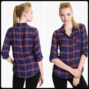 SPLENDID Charlee plaid shirt - size Medium